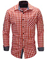 Special Beauty Handsome,Slim european size NEW New Arrival Men's shirt Long Sleeve Plaid Shirts Mens Dress Shirt Casual Shirts 105 Cool