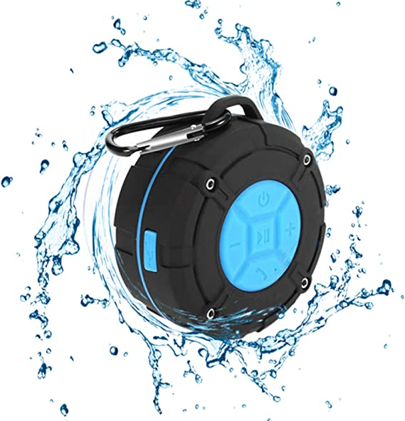 [2019 Version] Portable Shower Speaker,TOPROAD IPX7 Waterproof Wireless Outdoor Speaker with HD Sound,2 Suction Cups,Built-in Mic,Hands-Free Speakerphone for Bathroom, Pool, Beach, Hiking, Bicycle