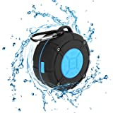 [Updated Version] Portable Shower Speaker,TOPROAD IPX7 Waterproof Wireless Outdoor Speaker with HD Sound,2 Suction Cups,Built