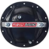 Proform 66668 Black Aluminum Differential Cover with Perfect Launch Logo and Bearing Cap Stabilizer Bolts for GM