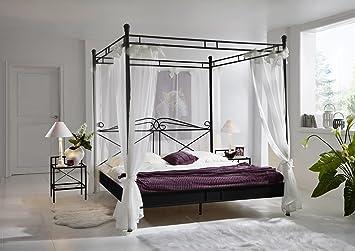 Designer himmelbett  SAM® Design Himmelbett Venezia, schwarzes Metall-Bett, 180 x 200 ...