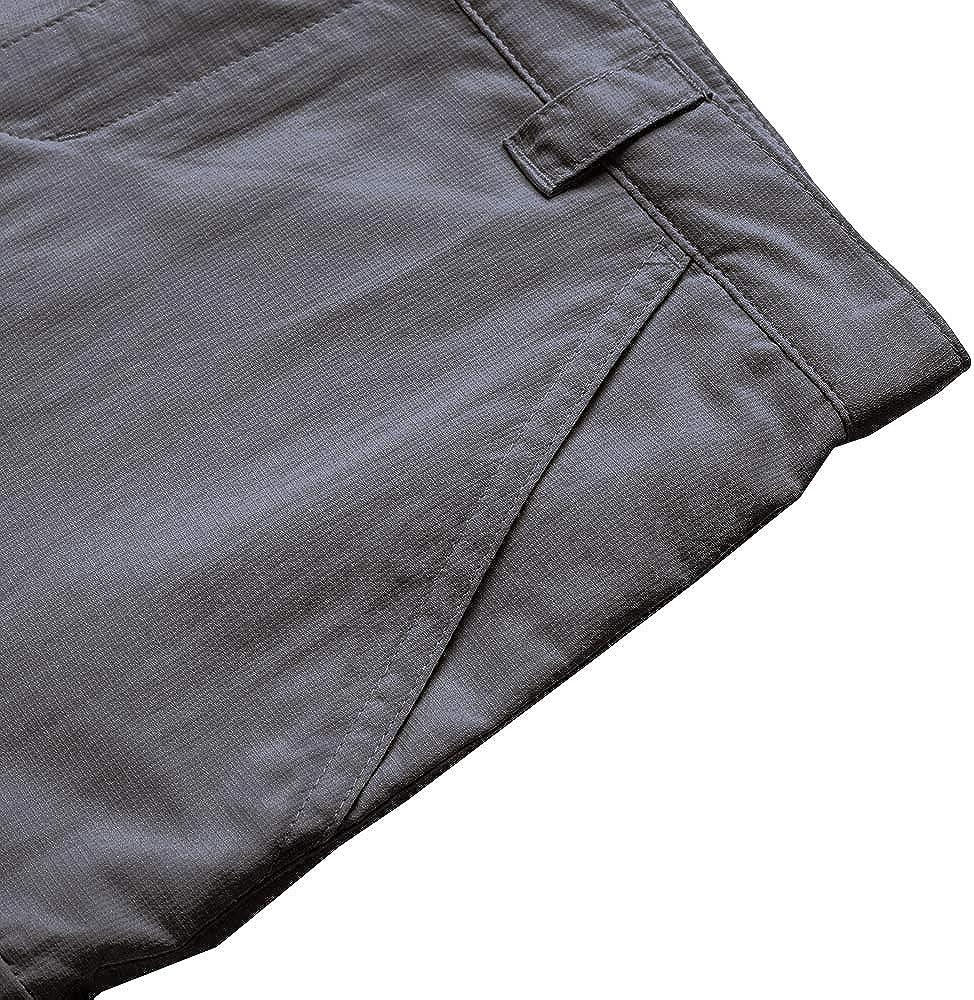 Kids Hiking Cargo Pants-Youth Boys Outdoor Convertible Climbing Camping Fishing Trail Zip Off Trousers #9016