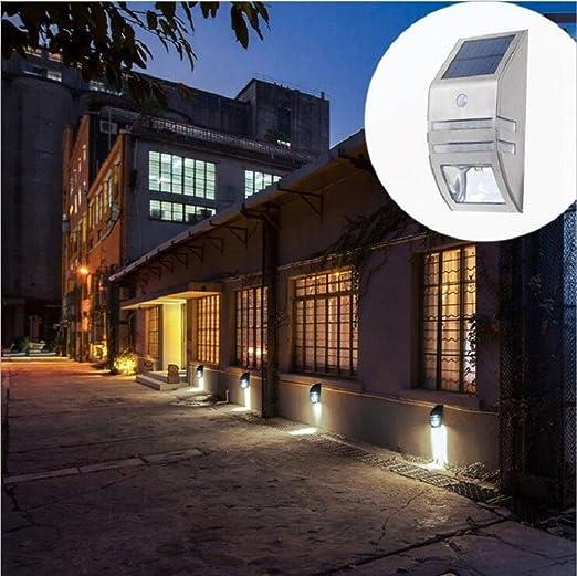 Waterproof LED Solar Power Sensor Path Garden Light Garage Outdoor Wall Lamp
