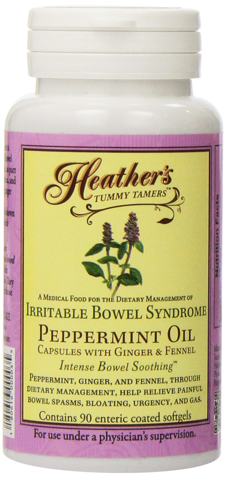 Heather's Tummy Tamers-Peppermint Oil Capsules, 180ct (2 Pack)