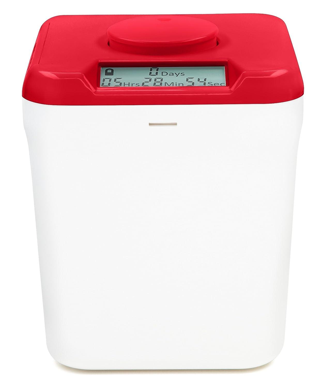 Kitchen Safe Red Lid + White Base Contenitore con timer richiudibile