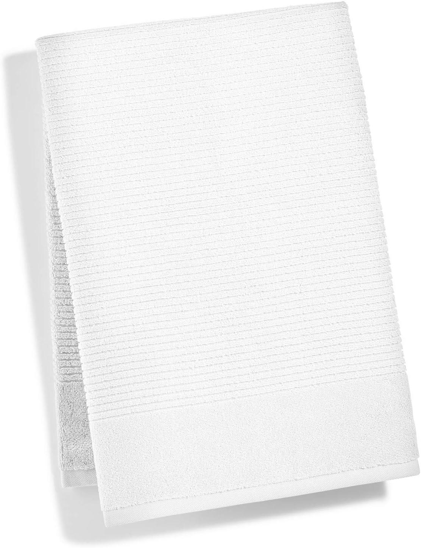 "Martha Stewart Collection Bath Towel Quick Dry Reversible 27x52/"" Blue,Ivory,Aqua"