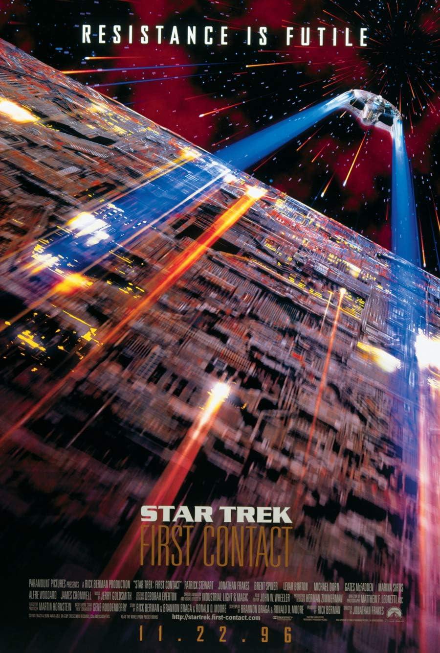 STAR TREK FIRST CONTACT MOVIE POSTER 2 Sided ORIGINAL Advance 27x40 PATRICK STEWART