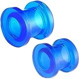 oreille elargisseur flesh plug tunnel écarteur 6mm 7mm bijouterie piercing acrylique grossiste 2 Paires FQHC