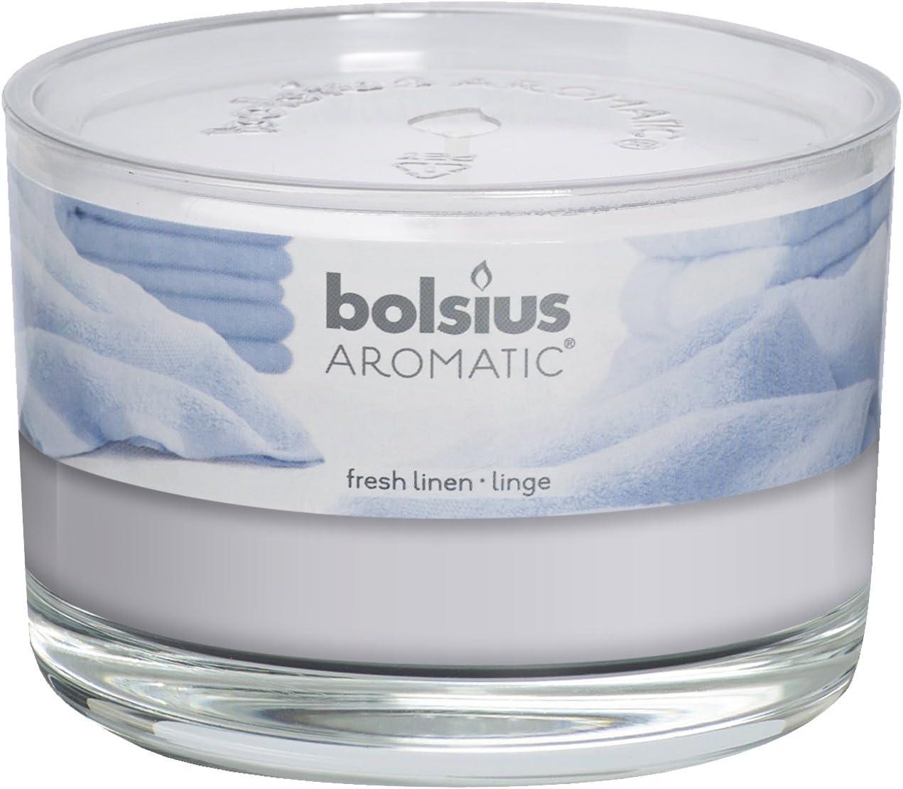 aromatique Linge Frais parfum/ée Pot en Verre Parfum Blanc 9/x 6.3/cm Cire de Paraffine