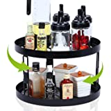 Spice Rack Organizer for Cabinet Organizers and Storage, 2 Tier Lazy Susan Turntable 12inch, 360°Rotating Kitchen…