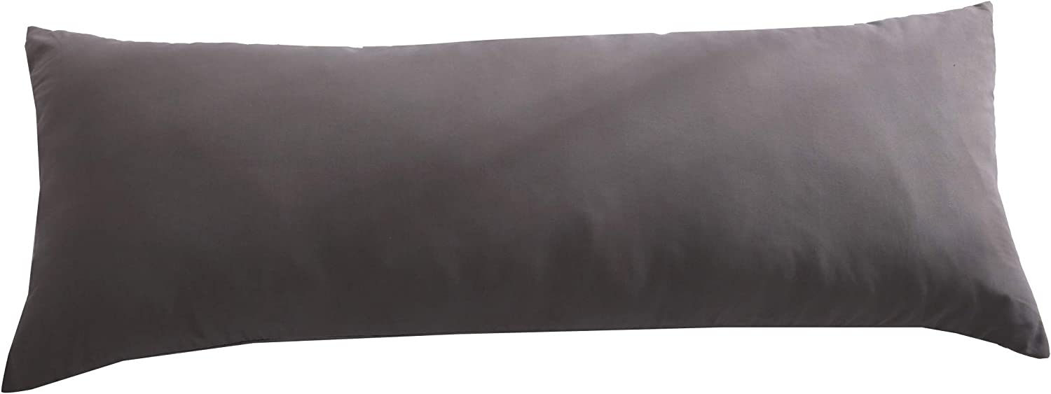 Black,21x54 Body Pillow Cover Luxury Soft Removable Body Pillow Case Long Body Pillow Protector 21x54 with Zipper Closure
