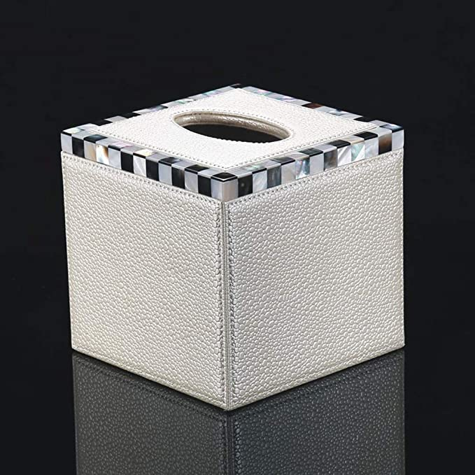 dise/ño de caja de pa/ñuelos Servilletero de piel sint/ética para decoraci/ón de coche o autom/óvil Shenruifa rectangular