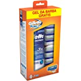 Gillette Fusion 7 Ricariche con Gel Series 200 ml in Omaggio