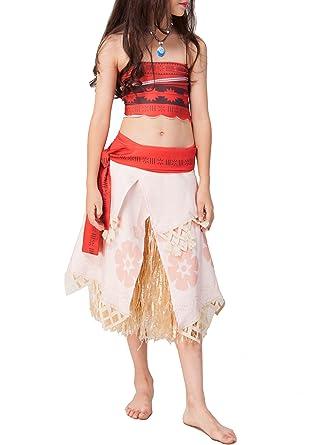 Vaiana Faschingskostume Halloween Moana Kostume Prinzessin Kleid