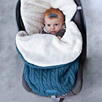 Newborn Baby Swaddle Blanket Wrap Sleeping Bags with feece Lined Crib Stroller Wrap for (0-12 Month)