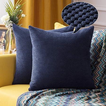 Cuscini Per Divano Blu.Miulee Confezione Da 2 Federe Granulari Piccole Per Cuscini Fodere