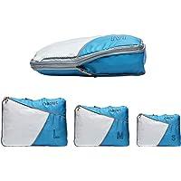 Packwürfel Kompression, Koffer Organizer/Rucksack Organizer auf Travel, Packtaschen als Kleidertaschen Wäschebeutel, Compression Packing Cubes Set 3-Teilig, Reise Zubehör von riemot