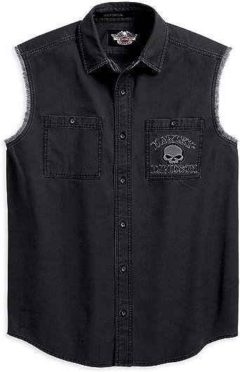 Harley-Davidson Skull Blowout – 99139 – 10 VM – Camisa sin mangas para hombre: Amazon.es: Ropa y accesorios