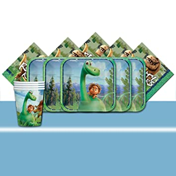 Official Disney Pixars The Good Dinosaur Party Complete Supplies Kit For 16 Cups Plates Napkins