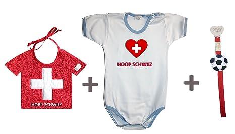 Zigozago - Juego Mundial Suiza compuesto de babero + Body + ...
