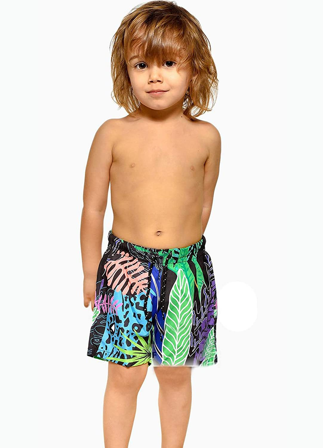 Family Matching Leaves Print Bathing Suit Mom/&Girl 1 Piece Sleeveless Backless Swimsuit Dad/&Boy Swim Trunks