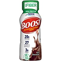 BOOST High Protein with Fiber Complete Nutritional Drink, Rich Chocolate, 8 Ounce...