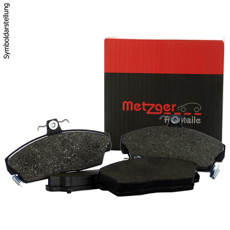 2 Original Metzger Bremsscheiben Metzger Bremsbel/äge Kl/ötze Bremsbelagsatz hinten Komplettsatz Bremsenkit Hinterachse