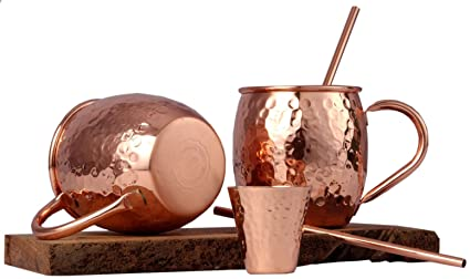 Mule By Handcrafts Set Moscow Mugs Copper yf7gb6