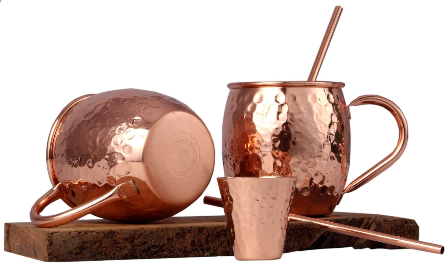 Moscow Mule Copper Mugs Set by Handcrafts.