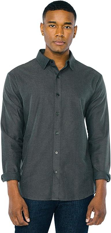 American Apparel NEW Mens Plaid Flannel Lumberjack Classic Fit Button Down Shirt