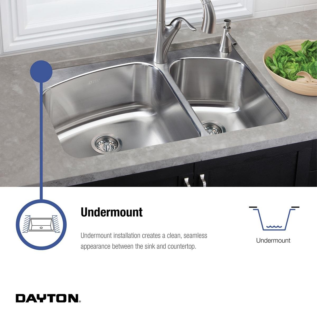 ... Elkay Crosstown Sink By Dayton Dxuh1618 Single Bowl Undermount  Stainless Steel Bar Sink ...