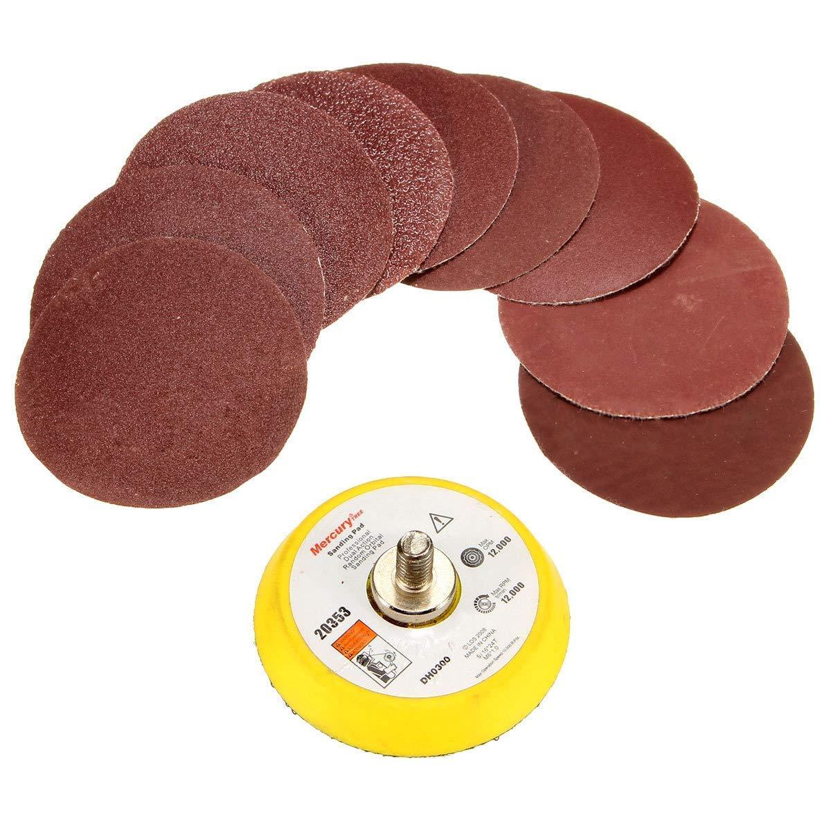 100 feuilles de papier abrasif grain 100 Lot de 100 disques abrasifs de 25 mm de 2,5 cm 3000 avec tige de 6,35 mm pour perceuse meuleuse outils rotatifs