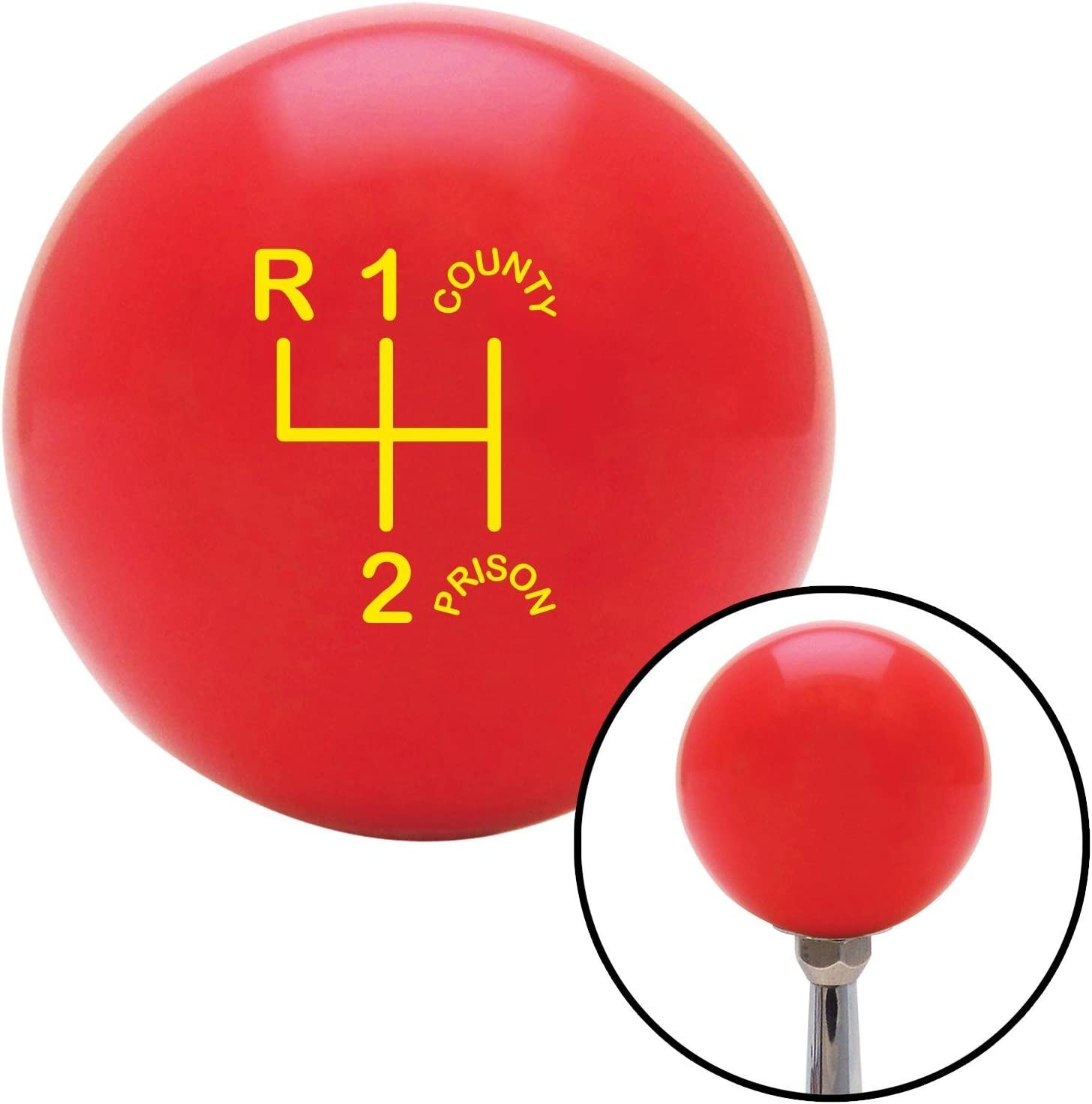Yellow Shift Pattern CP3n American Shifter 100517 Red Shift Knob with M16 x 1.5 Insert