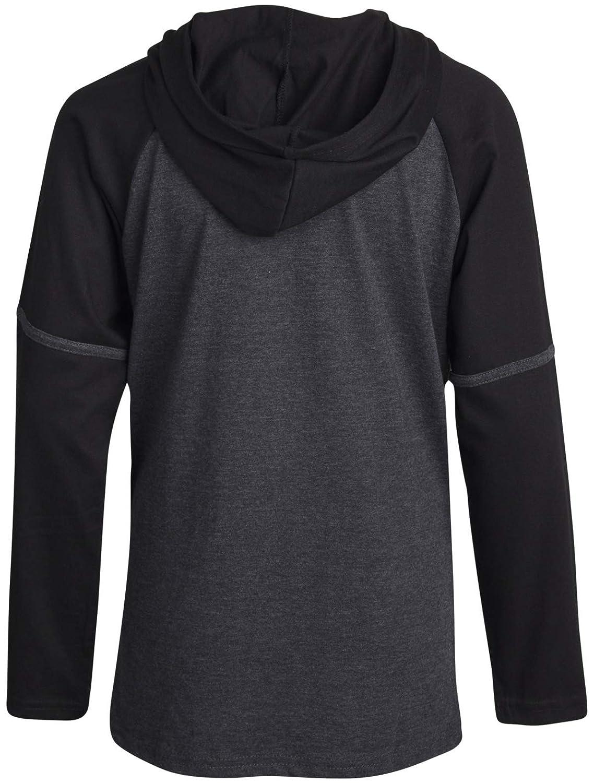 Reebok Boys Lightweight Long Sleeve Pullover Hooded T-Shirt