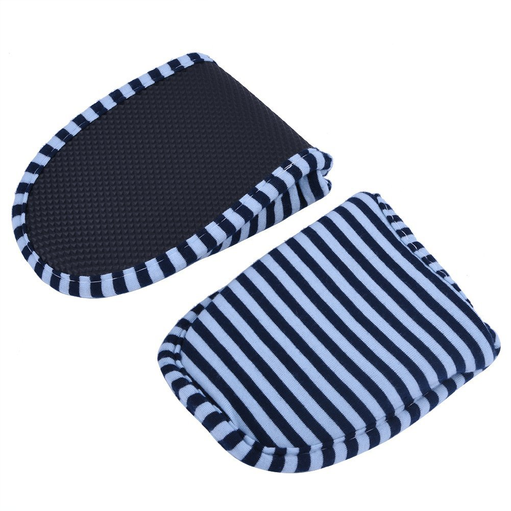 JIAHG Unisex Travel Hotel Slippers Ultra Soft Foldable Stripe House Slipper Non-Slip Washable Spa Bedroom Home Shoes Indoor Outdoor Blue by JIAHG (Image #5)