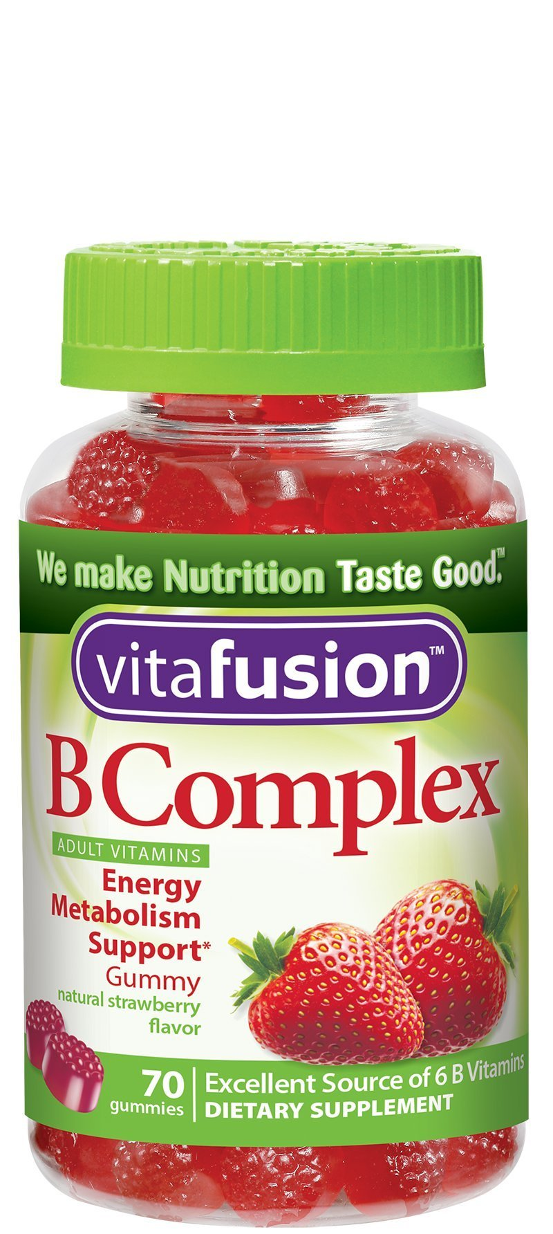 Vitafusion B Complex Gummy Vitamins, 70 Count, Pack of 3 (Packaging May Vary)
