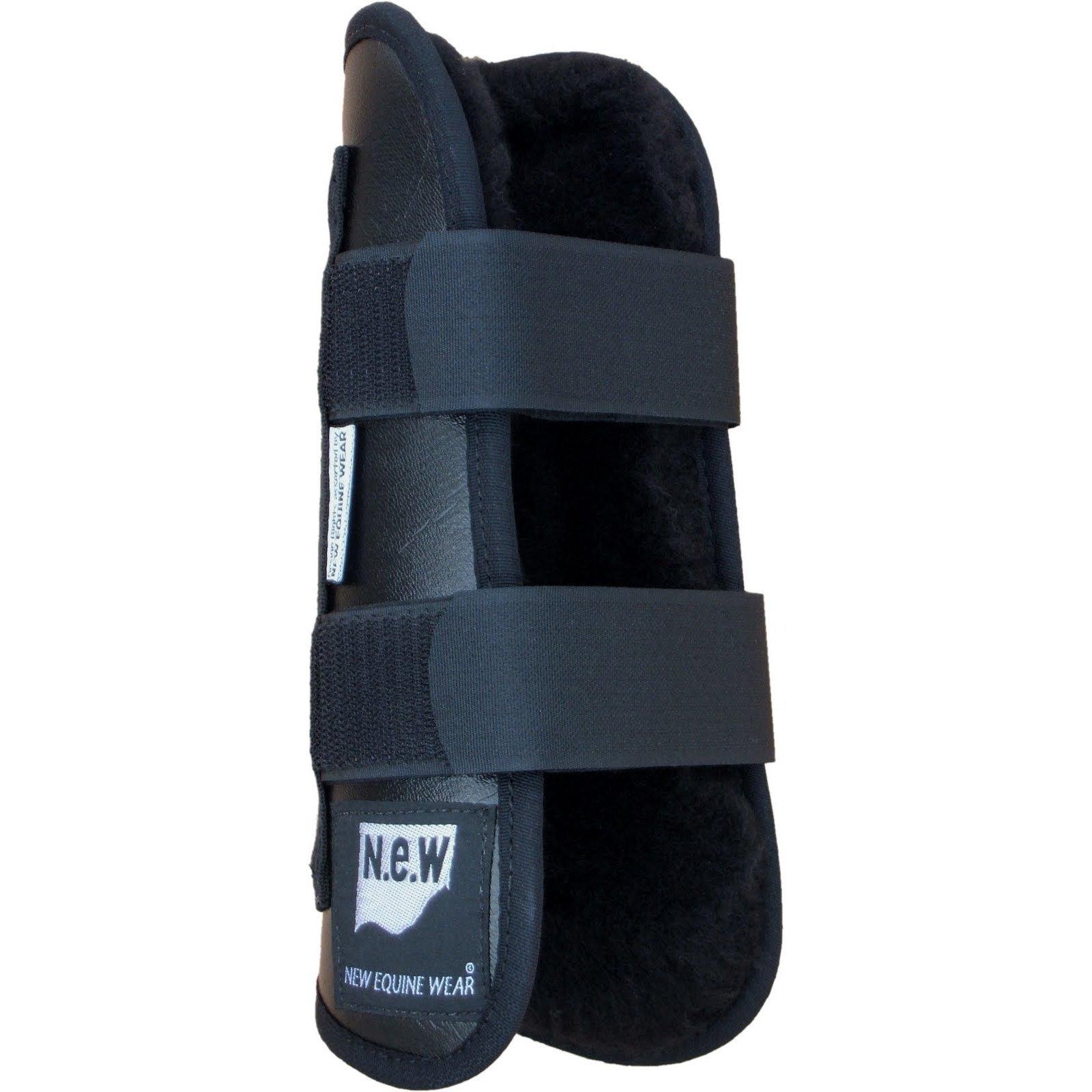 New Equine Wear Fleece Open Tendon Boots (Pony) (Black)