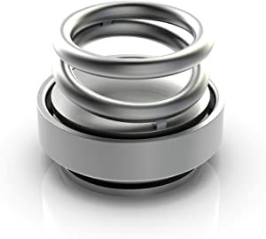 SURDOCA 2019 Newest Decompression Toy, Car Air Freshener and Decoration, Desk Toy, Double Ring Rotating Designed, Gift Choice (Silver)