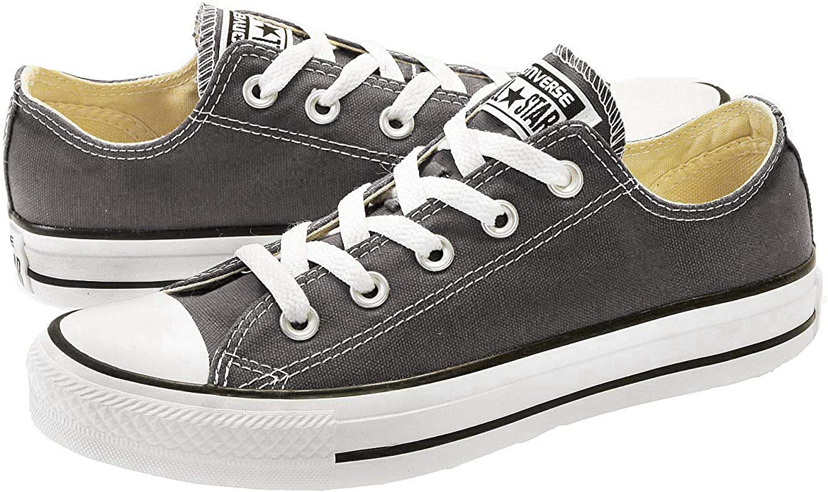 Converse Chucks (Chuck Taylor) All Star Ox Low Tops Unisex Damen Herren Grau