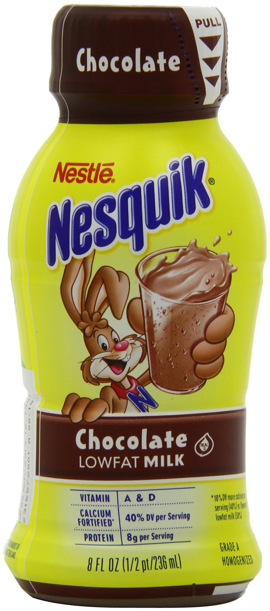 Nestle Nesquik Ready-To-Drink Flavored Milk, Low Fat Chocolate (1% Milkfat), 8-Ounce Bottles (Pack of 24)