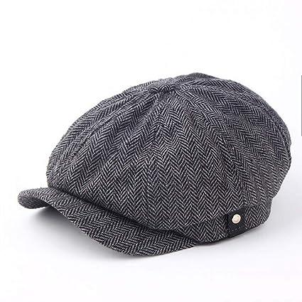 LXMDCAPA Sombrero Fashion Gentleman Octogonal Cap Newsboy Beret Hat Otoño E Invierno para Los Modelos Masculinos