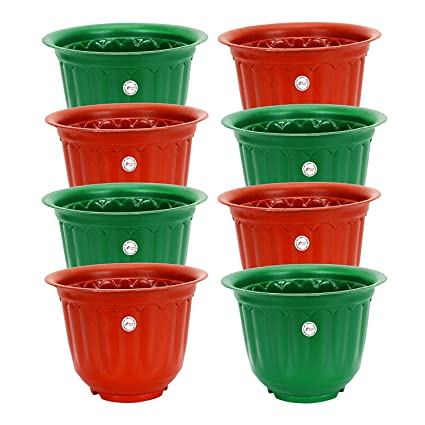 Gate Garden Plastic Gamla Planter 10 Inch Set Of 8 Colour May Vary