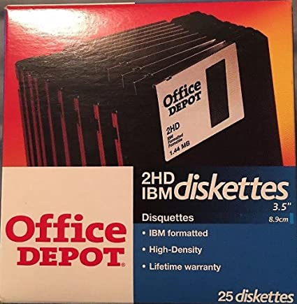 Amazon.com: Office Depot 2HD Diskettes 25pk.: Home Audio & Theater