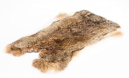 NaDeco Kaninchenfell | Hasenfell braun grau | Dekofell | Naturfell