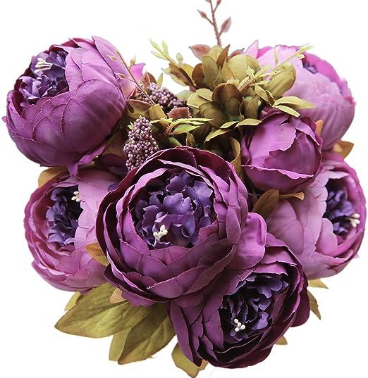 "6 Mauve  Dahlia Artificial Silk Flower 2.5/""  Head Hair Clip Craft"