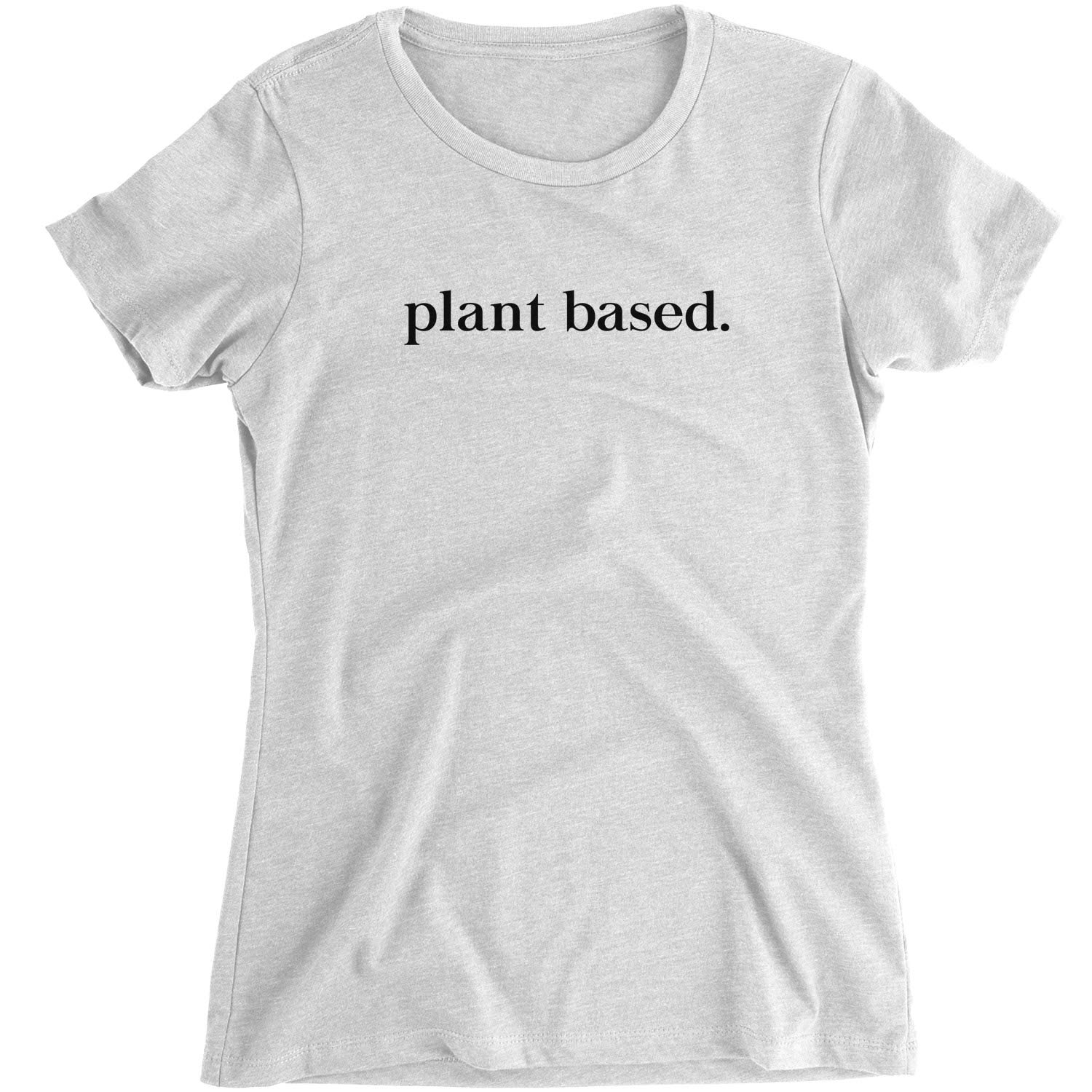Ethical Sustainable Plant Based Fitted Top Vegan Organic Cotton Womens T-Shirt