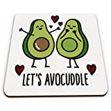 Let's Avocuddle Cute Love Novelty Glossy Mug Coaster