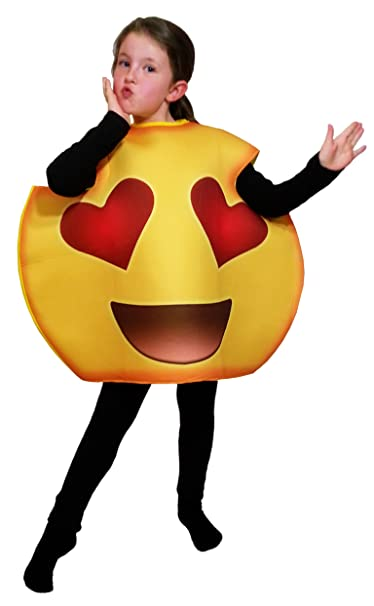 Emoji Halloween Party Costumes For Kids Boys Girls Includes Bonus 660 Party Favor Emoji Stickers