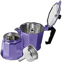 Innova Premium STEAM Stovetop Espresso Maker | Italian Moka, Coffee Percolator, Brewing Pot | Octagonal Design, Aluminium Steel, Insulated Handle | Good for 1 Cup 60ml - 2oz (Violet)
