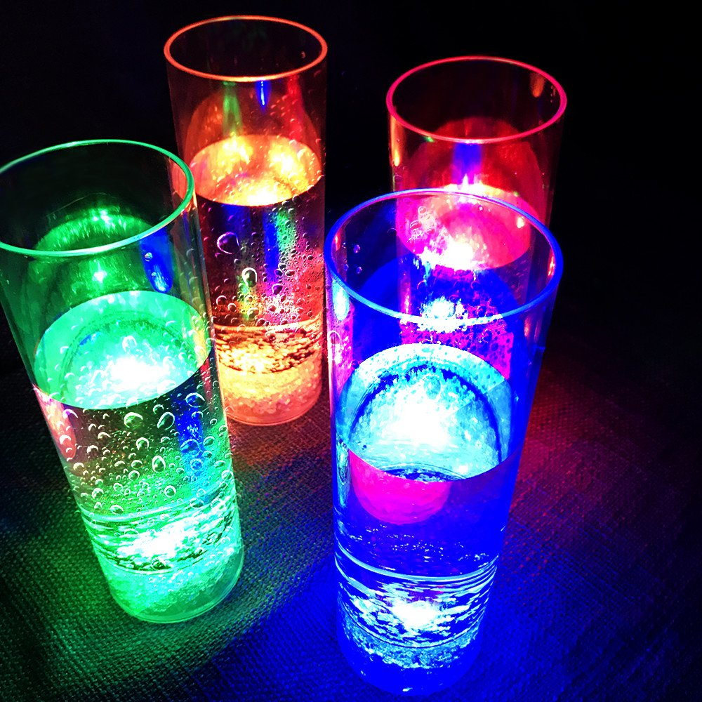 Miyare LED Flashing Bar Glasses Luminous Cup Beer Cup High Brightness Light Cup Party Festival Gift Colorful